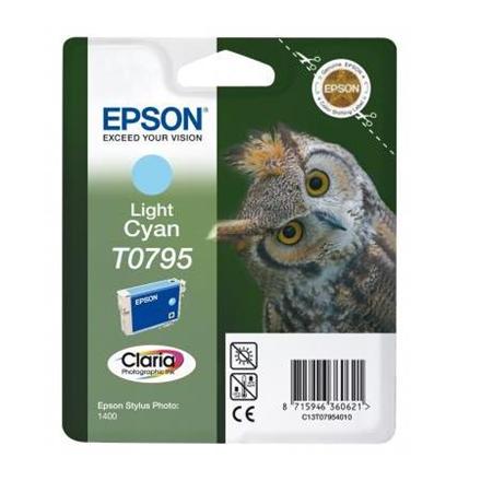 Epson Singlepack Light Cyan T0795 Claria Photographic Ink Light cyan