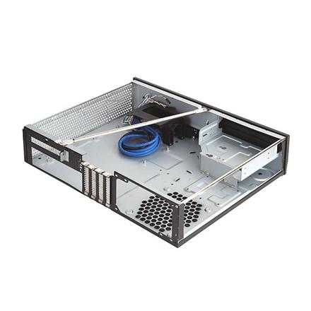 SilverStone Milo 04 Computer chassis USB 3.0 x 2, Mic x1, Spk x1, Black, Micro ATX, Power supply included No