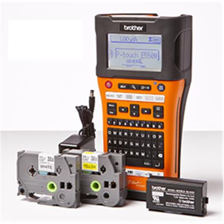 Brother PT-E550WVP Thermal, Label Printer, Wi-Fi, Black, Orange
