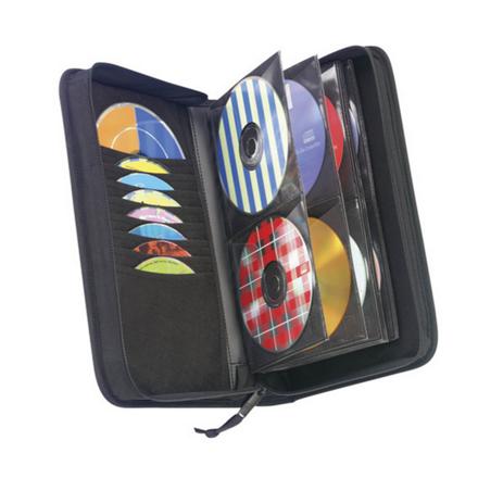 Case Logic CD Wallet Nylon, Black, 72 discs