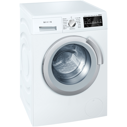 SIEMENS Washing machine WS12T440BY Front loading, Washing capacity 6.5 kg, 1200 RPM, Direct drive, A+++, Depth 44.6 cm, Width 59.8 cm, White, LED, Display,