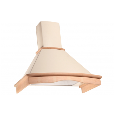 Hood Eleyus Tempo H 750 90 N Wall mounted, Width 90 cm, 438 m³/h, 750 m³/h, Ivory with not colored wood, 35.7 - 51.5 dB