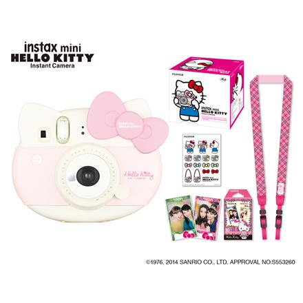 Fujifilm instax mini HELLO KITTY camera + Instax mini glossy (10) Pink