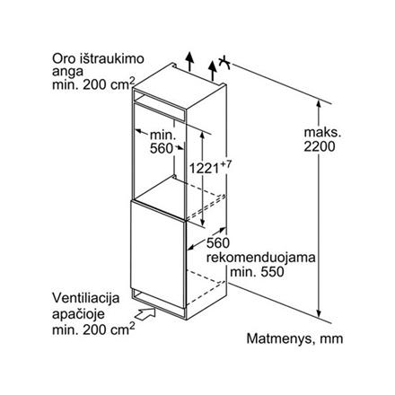 Bosch Refrigerator KIL42VF30 Built-in, Larder, Height 122.1 cm, A++, Fridge net capacity 180 L, Freezer net capacity 15 L, 38 dB, White