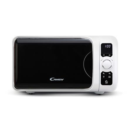 Candy Microwave oven EGO G25D CW 25 L, Grill, Buttons, Rotary, 900 W, White, Free standing, Defrost function