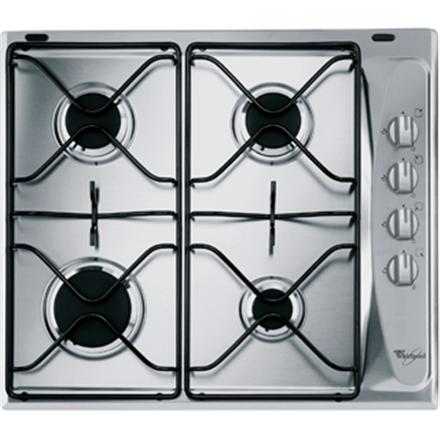 Whirlpool AKM 268/IX Gas, Number of burners/cooking zones 4, Stainless steel,