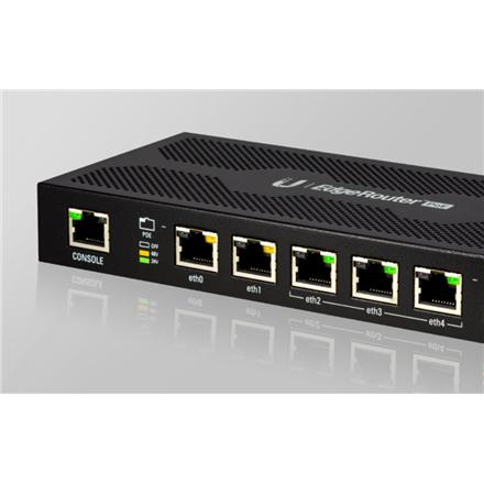 Ubiquiti EdgeRouter ERPoe-5  10/100/1000 Mbit/s, Ethernet LAN (RJ-45) ports 5