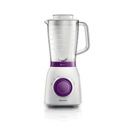 Blender Philips HR2163 White/Purple, 600 W, Plastic, 2 L, Ice crushing, Mill