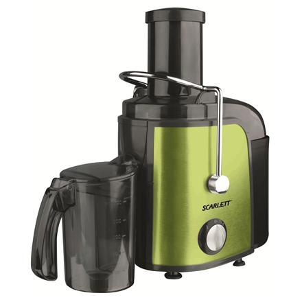 Juicer Scarlett SC-JE50S08RGN Type Centrifugal juicer, Green, 1000 W, Extra large fruit input, Number of speeds 2