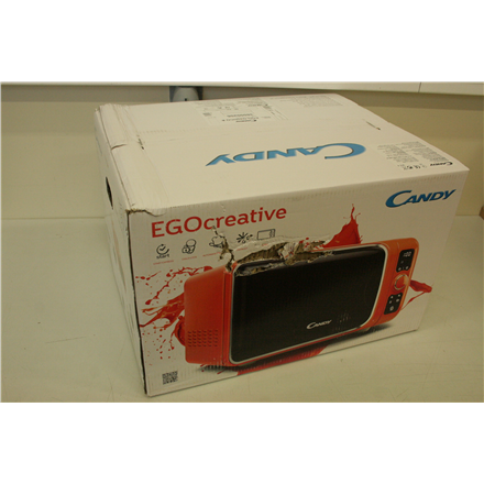 SALE OUT. Candy EGO-G25DCO Microwave+Grill, Capacity 25L, Microwave 900W, Grill 1000W, 6 programs, Orange Candy 25 L, Free standing, Grill, 900 W, Orange, DAMAGED PACKAGING, Defrost function