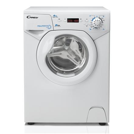Candy Washing machine AQUA 1042D1-S Front loading, Washing capacity 4 kg, 1000 RPM, A+, Depth 46.3 cm, Width 51 cm, White, LED, Display