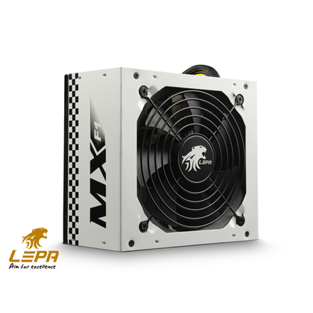 Lepa MX F1 series  High efficiency up to 86%, Active PFC PSU, 120mm FAN, retail packing 400 W, 336 W, 400W (336W on +12V; 28A) W