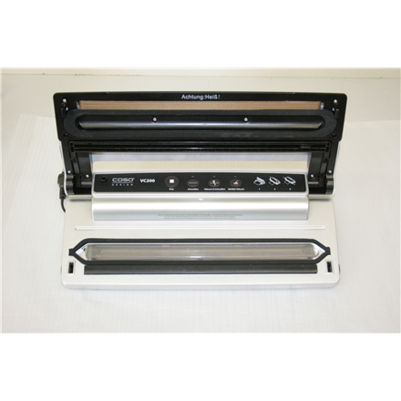 Caso VC200 Vacuum Sealer, Silver, 120 W W, Film Box, 2 professional vacuum rolls, hose for containers, REFURBISHED, SCRATCHED, MISSING 2 VACUUM ROLL