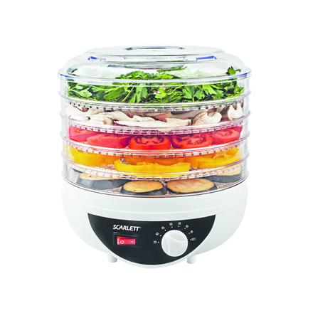 Food dryer Scarlett SC-421 Black, 250 W, Number of trays 5, Temperature control
