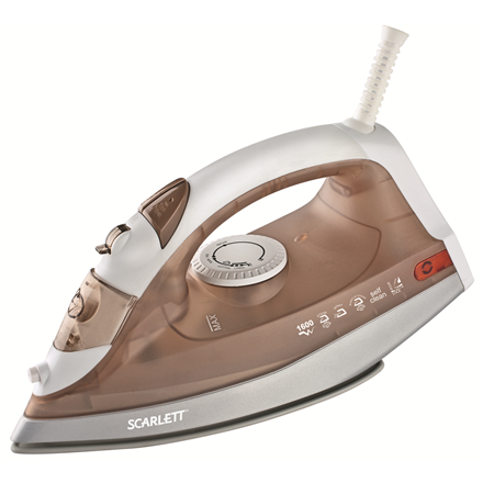 Iron Scarlett SC-135S Brown/White, 1600 W, With cord, Continuous steam 20 g/min, Vertical steam function, Water tank capacity 200 ml