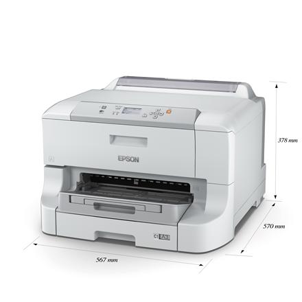 Epson WorkForce Pro WF-8010DW Colour, Inkjet, Printer, Wi-Fi, A3+, White