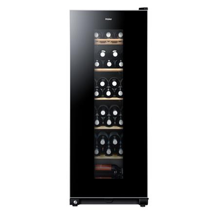 Haier Wine cooler, Bottles capacity 59, Black