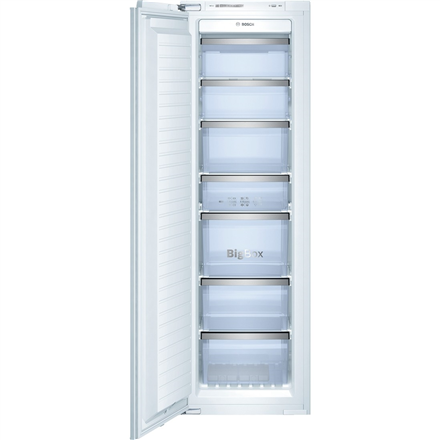 Bosch Freezer GIN38P60 Upright, Height 177.5 cm, Total net capacity 212 L, A++, Freezer number of shelves/baskets 7, White, No Frost system, Built-in