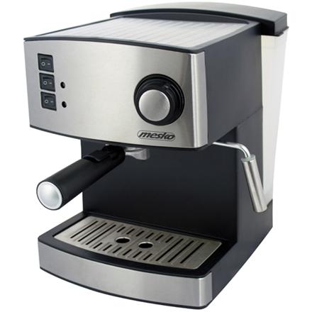 Mesko Espresso Machine MS 4403 Pump pressure 15 bar, Built-in milk frother, Semi-automatic, 850 W, Stainless steel/Black