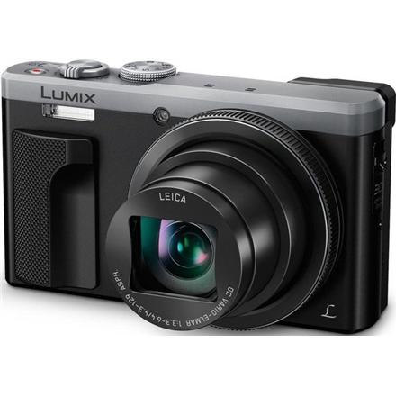 "Panasonic DMC-TZ80EP-S Compact camera, 18.1 MP, Optical zoom 30 x, Digital zoom 4 x, Image stabilizer, ISO 6400, Display diagonal 3.0 "", Wi-Fi, Focus 0.03m - ∞, Video recording, Li-ion, Black/Silver"