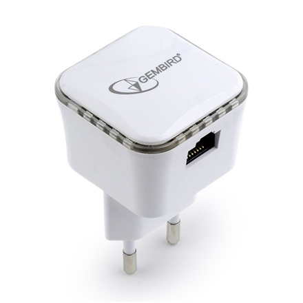 Gembird WiFi repeater, 300 Mbps, white