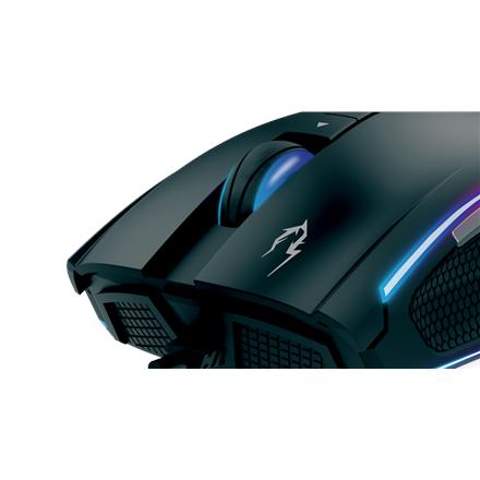 Gamdias Mouse - Zeus M1 Gamdias gaming mouse Zeus M1 Optical sensor, 8, 2 year(s), Black, 16.8 million double level RGB customizable streaming lighting, 12000DPI, Fully Customization With Gamdias Hera Software, 1,000 Hz refresh rate, weight tuning system,