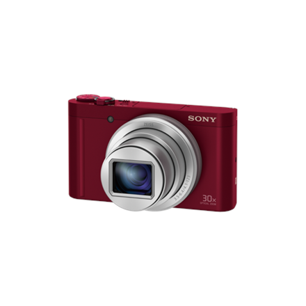 """Sony DSC-WX500R Compact camera, 18.2 MP, Optical zoom 30 x, Digital zoom 120 x, Image stabilizer, ISO 12800, Display diagonal 3 """", Wi-Fi, Focus 0.05m - ∞, Video recording, Lithium-ion, Red"""