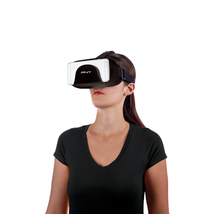 """PNY Black, DiscoVRy Reality Headset VRH-DIS-01-KK-RB, Universal solution (for modern smartphones from 4"""" to 6"""")"""
