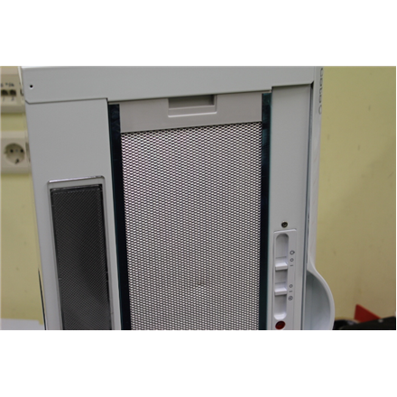 SALE OUT. Cata TF-5060/C White Telescopic cooker hood, 1 Motor, 350 kub.m/h, 3 levels Slider control, White CATA TF-5060/C W Built-in telescopic, Width 60 cm, 350 m³/h, White, Energy efficiency class E, 65 dB, DAMAGED PACKAGING, DENTS ON FILTER, Mechanical panel