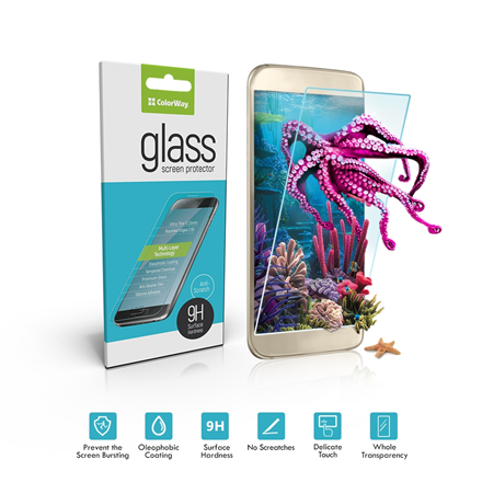 ColorWay 9H 2.5D CW-GSRESJ730 Screen protector, Samsung, Galaxy J7 (2017), Tempered glass, Transparent
