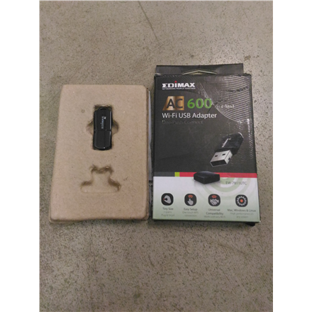 SALE OUT. Edimax EW-7811UTC AC600 Dual-Band Mini USB Wi-Fi Adapter Edimax REFURBISHED USED