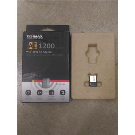 SALE OUT. Edimax EW-7822ULC  AC1200 Dual-Band MU-MIMO USB Adapter Edimax USED REFURBISHED