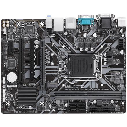 Gigabyte H310M S2P 1.1 Processor family Intel, Processor socket LGA1151, DDR4 DIMM, Memory slots 2, Number of SATA connectors 4 x SATA 6Gb/s connectors, Chipset Intel H, Micro ATX