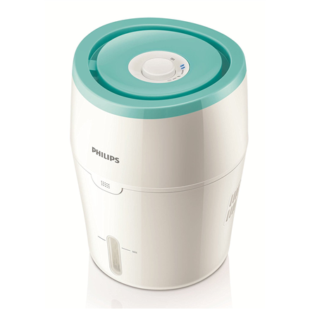 Philips HU4801/01 Humidification capacity 220 ml/hr, White/ green, Type Humidifier, Natural evaporation process, Suitable for rooms up to 25 m², Water tank capacity 2 L