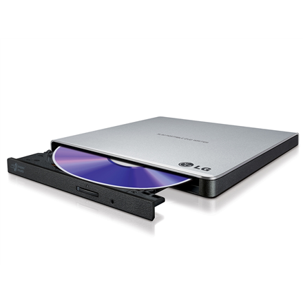 H.L Data Storage Ultra Slim Portable DVD-Writer GP57ES40 Interface USB 2.0, DVD±R/RW, CD read speed 24 x, CD write speed 24 x, Silver, Desktop/Notebook