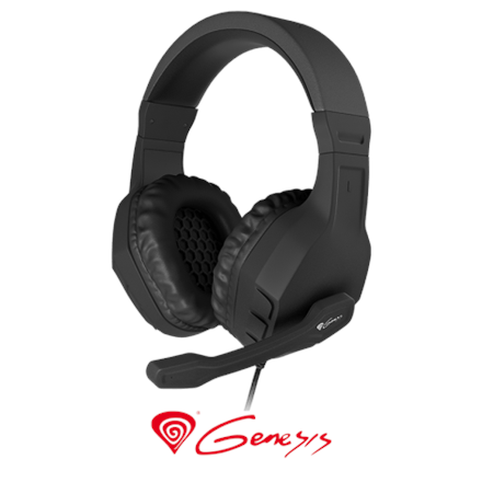 Genesis  Gaming Headset Argon 200, 2 x 3 pin 3,5 mm stereo mini-jack, NSG-0902, Black, Wired, Built-in microphone