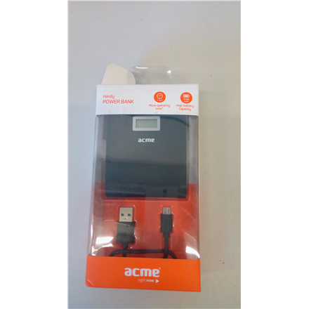 SALE OUT. ACME PB06 Handy power bank, 6000 mAh Acme DAMAGED PACKAGING ,SCRATCHED