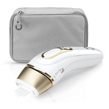 Braun IPL Epilator Silk-expert Pro 5 PL5014 Bulb lifetime (flashes) 400000, Number of power levels 10, White/Gold