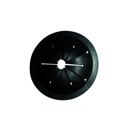 Elleci PPT90010  Splashguard Black,  removable and washable (including in dishwasher) for Waste disposers