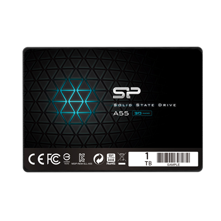 Silicon Power A55 1000 GB, SSD interface SATA, Write speed 530 MB/s, Read speed 560 MB/s