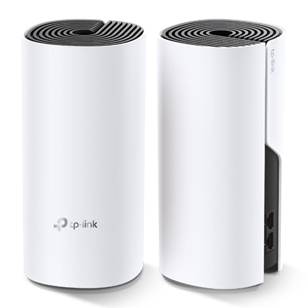 TP-LINK Whole Home Mesh WiFi System Deco M4 (2-Pack) 802.11ac, 300+867 Mbit/s, 10/100/1000 Mbit/s, Ethernet LAN (RJ-45) ports 2, MU-MiMO Yes, Antenna type 2xInternal