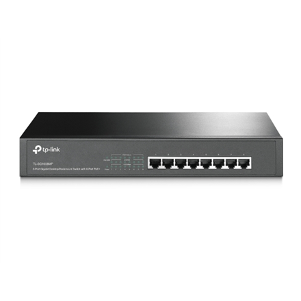 TP-LINK Switch TL-SG1008MP Unmanaged, Rack mountable, 1 Gbps (RJ-45) ports quantity 8, PoE+ ports quantity 8, Power supply type Single