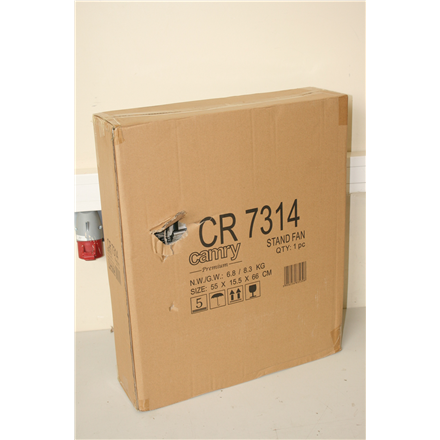 SALE OUT. Camry CR 7314 Stand fan, Size 40cm, 3 speed settings, Angle adjustment, Stable base, Power 130 W Camry CR 7314 Stand Fan, DEMO, NOT USED, 190 W, Remote control, Oscillation, Timer, Stainless steel