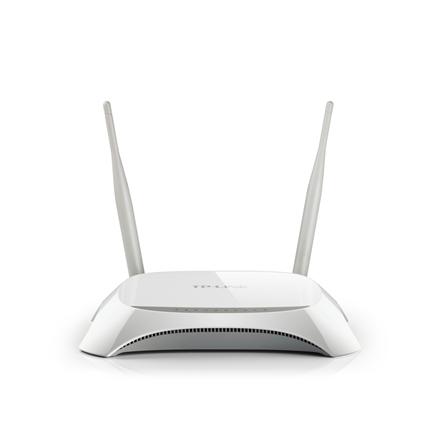 TP-LINK 3G/4G Router TL-MR3420 802.11n, 300 Mbit/s, 10/100 Mbit/s, Ethernet LAN (RJ-45) ports 4, 3G/4G via optional USB adapter, Antenna type 2xExternal, 1xUSB 2.0