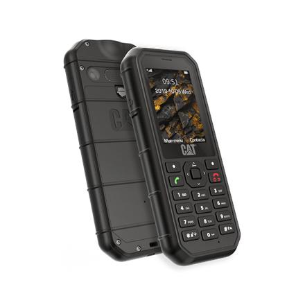 """CAT B26 Black, 2.4 """", TFT, 240 x 320, 8 MB, 8 MB, microSD, Dual SIM, Main camera 2 MP, 1500 mAh"""