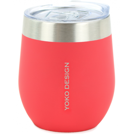 Yoko Design Isotherm mug with cup Capacity 0.25 L, Material Stainless steel, Red