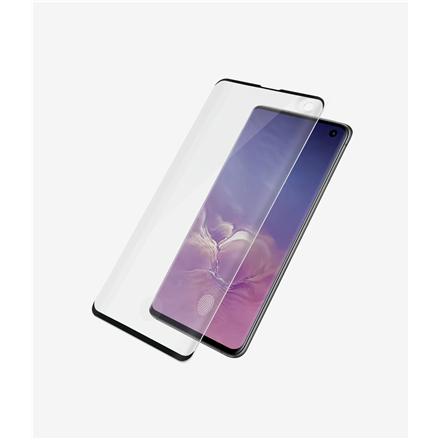 PanzerGlass Samsung, Galaxy S10, Glass, Black, Case Friendly