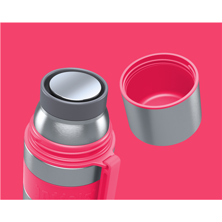 Boddels HEET Vacuum flask with cup Capacity 0.5 L, Material Stainless steel, Raspberry red