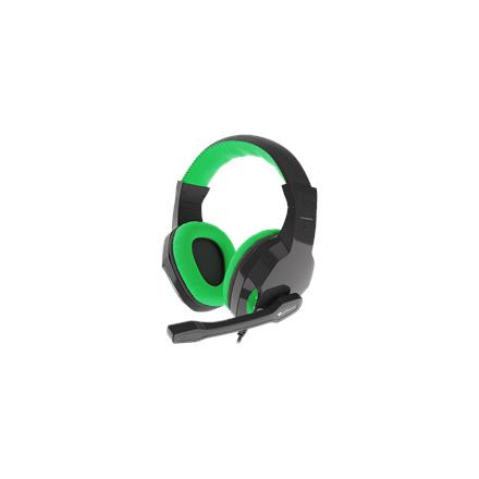 Genesis Gaming Headset, 3.5 mm, ARGON 100, Green/Black, Built-in microphone