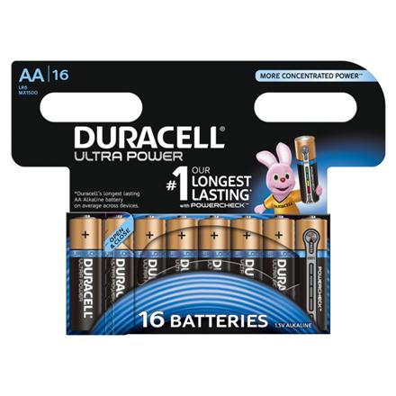 Duracell Ultra Power MX1500 AA, Alkaline, 16 pc(s)